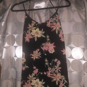 Floral mini slip dress